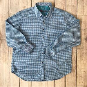Robert Graham Shirt XL Blue Mens Button Down Shirt